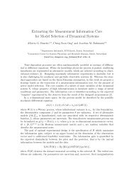 Extracting the Measurement Information Core for Model Selection of ...