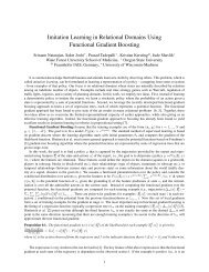 Imitation Learning in Relational Domains Using Functional Gradient ...