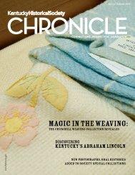 Chronicle Spring & Summer 2008 - Kentucky Historical Society