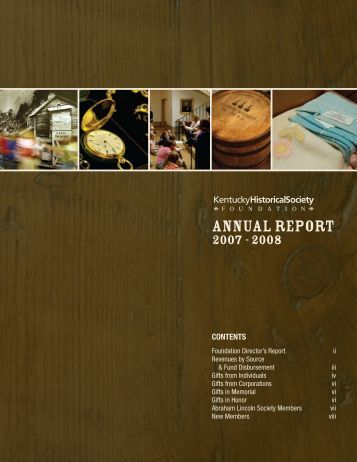 ANNUAL REPORT - Kentucky Historical Society