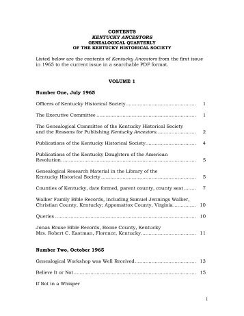 KY ANCESTORS Contents 1965-2007.pdf - Kentucky Historical ...