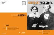 Kentucky Ancestors, Volume 44, Number 1 - Kentucky Historical ...