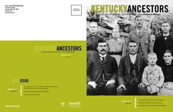 Kentucky Ancestors, Volume 44, Number 3 - Kentucky Historical ...