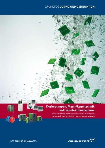 Dosierpumpen, Mess-/Regeltechnik und Desinfektionssysteme