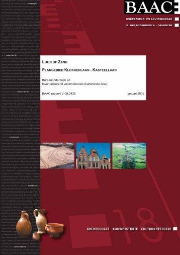 Bijlage 37 Archeologisch onderzoek verbindingsweg Loon op Zand