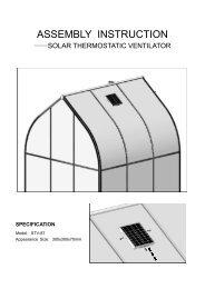 Solar ventilator Assembly Instructions - Exaco
