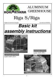 Riga S/Riga Basic kit assembly instructions - Home Depot