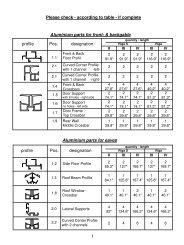 RIGA Assembly Parts List - Exaco