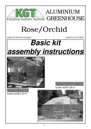 Rose/Orchid Basic kit assembly instructions - Exaco