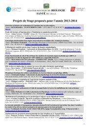 Sujets proposés en 2013-2014