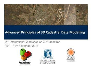Advanced Principles of 3D Cadastral Data Modelling - 3D Cadastres ...