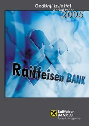 Bilansi uspjeha - Raiffeisen Bank