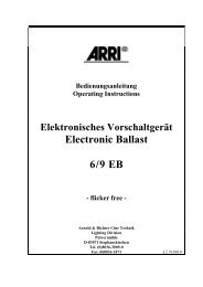 Electronic Ballast 6/9 EB - ARRI Lighting Rental