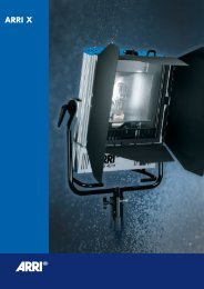 ARRI X Brochure - ARRI Lighting Rental