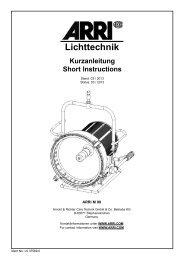 Lichttechnik - ARRI Lighting Rental