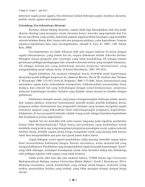 Profetisme, Muhammadiyah dan Gelombang Besar Globalisasi ...