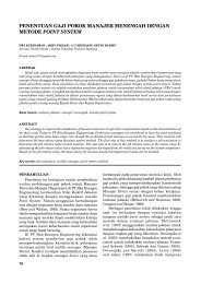 penentuan gaji pokok manajer menengah dengan metode point - ITB