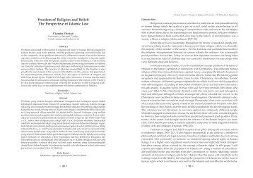 Freedom of Religion and Belief - Scientific Journal UMM