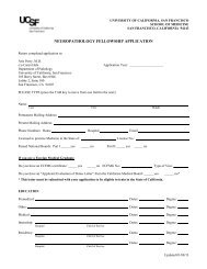 Application Form - Departments of Pathology and Laboratory ...