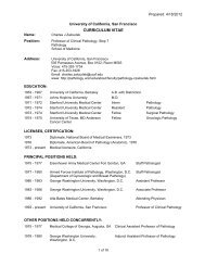Detailed CV - Departments of Pathology and Laboratory Medicine ...