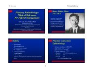 Pituitary Pathobiology - Departments of Pathology and Laboratory ...