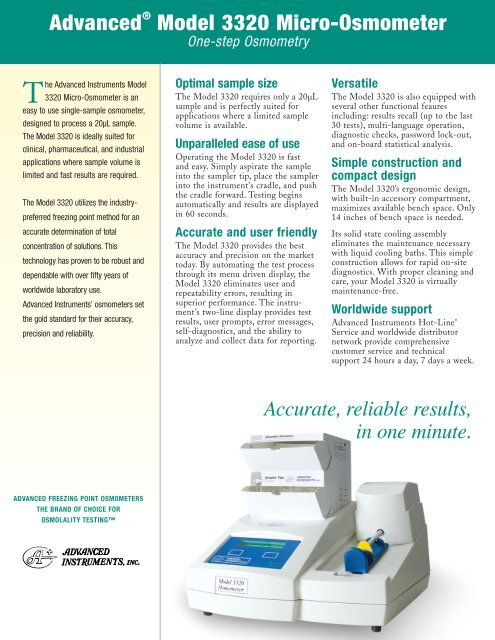 The advanced micro osmometer 3300 manual.