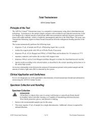 Total Testosterone Principle of the Test Clinical Application and ...