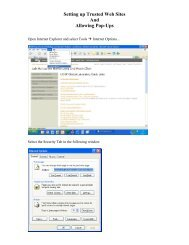Setting up Trusted Web Sites and Allowing Pop-ups