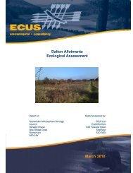 Dalton Allotments Ecological Assessment March 2010