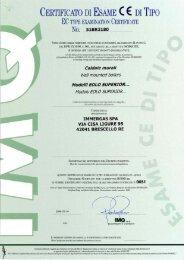 Certificazioni EOLO Superior kW