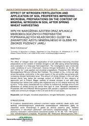effect of nitrogen fertilization and application of soil properties ...