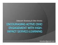Encouraging Active Civic Engagement through High-Impact Service ...