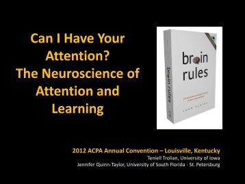 The Neuroscience of Attention and Learning