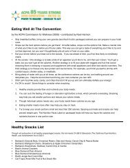 Eating Well At The Convention Healthy Snacks List