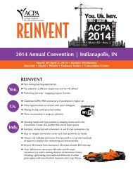 YOU. US. INDY. - ACPA 2014 Indianapolis Convention