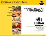 SPRING 2010 Hilton Baltimore Catering Menu.pub