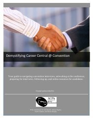 Demystifying Career Central @ Convention