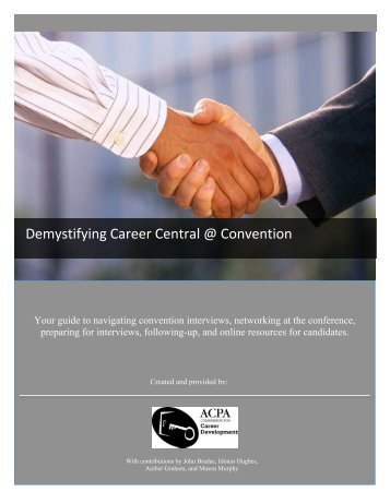 Demystifying Career Central @ Convention - ACPA Convention
