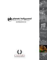 Planet Hollywood Menu (PDF)