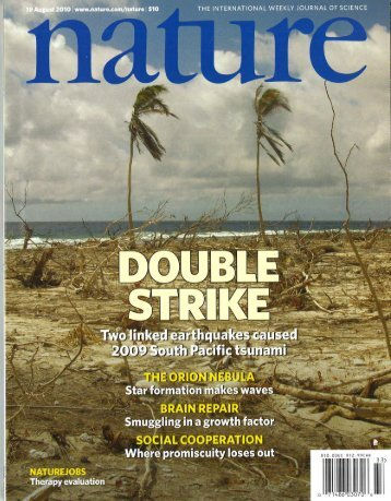 Double trouble at tonga - Division of Geological and Planetary ...