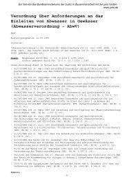 Verordnung über Anforderungen an das Einleiten von Abwasser in ...