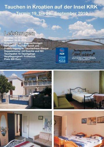 Tauchen in Kroatien auf der Insel KRK Termin:19 ... - Aquakadabra