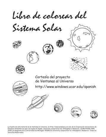 Libro de colorear del Sistema Solar - Windows to the Universe