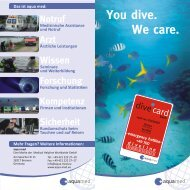 You dive. We care. - Aqualand Tauchsport Ramstein