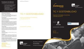 tic y sostenibilidad tic y sostenibilidad - Visite nuestra página WEB