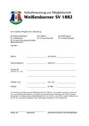 Aufnahmeantrag zur Mitgliedschaft