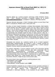 Informacja prasowa 19 marca 2013 - Polski Himalaizm Zimowy