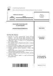 Arkusz - Centralna Komisja Egzaminacyjna
