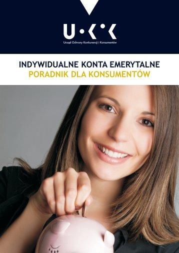 Indywidualne konta emerytalne - poradnik dla konsumentów