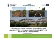Modernizacja linii kolejowej
